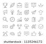 success icon set. winning in... | Shutterstock .eps vector #1135246172