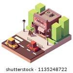 vector isometric laundromat...   Shutterstock .eps vector #1135248722