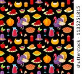 seamless pattern with colorful... | Shutterstock .eps vector #1135251815