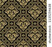 classic seamless vector black...   Shutterstock .eps vector #1135254638