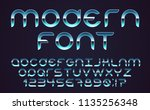 color  bright font in the old... | Shutterstock .eps vector #1135256348