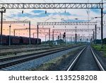 railcar for dry cargo during... | Shutterstock . vector #1135258208