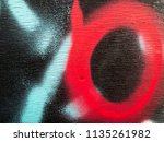 street art graffiti. closeup... | Shutterstock . vector #1135261982