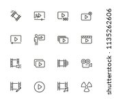 movie icons. set of  line icons.... | Shutterstock .eps vector #1135262606
