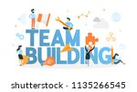 team building concept. group of ... | Shutterstock .eps vector #1135266545