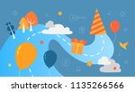 big birthday party concept.... | Shutterstock .eps vector #1135266566