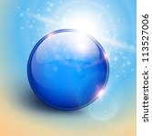 Vector Blue Shiny Sphere...