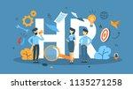 recruitment concept. idea of...   Shutterstock .eps vector #1135271258