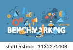 benchmarking concept. idea of... | Shutterstock .eps vector #1135271408