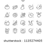 vegetables well crafted pixel... | Shutterstock .eps vector #1135274405