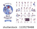 male black scientist ready to... | Shutterstock .eps vector #1135278488
