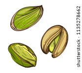 pistachios. vector illustration ... | Shutterstock .eps vector #1135278662