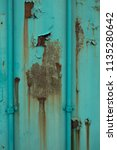 expired rusty weathered and... | Shutterstock . vector #1135280642