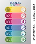 information graphic or... | Shutterstock .eps vector #1135281065