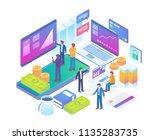 modern isometric online stock... | Shutterstock .eps vector #1135283735