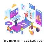 modern isometric online music... | Shutterstock .eps vector #1135283738