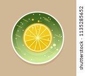 fresh lemon. vector illustration   Shutterstock .eps vector #1135285652
