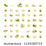 set of sweet grapefruit images | Shutterstock . vector #1135285715