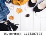 women's accessories. shoes  bag ... | Shutterstock . vector #1135287878