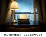 workplace of a writer ... | Shutterstock . vector #1135299395