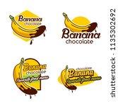 a set banana logo badge | Shutterstock .eps vector #1135302692
