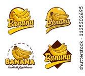 a set banana logo badge   Shutterstock .eps vector #1135302695