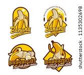 a set banana logo badge | Shutterstock .eps vector #1135302698