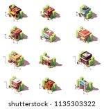 vector isometric shop and... | Shutterstock .eps vector #1135303322