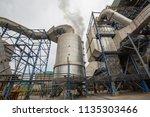 multiple biomass power plant ... | Shutterstock . vector #1135303466