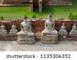wat yai chai mongkhol in... | Shutterstock . vector #1135306352
