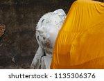 wat yai chai mongkhol in... | Shutterstock . vector #1135306376
