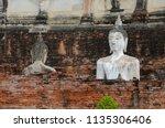 wat yai chai mongkhol in... | Shutterstock . vector #1135306406