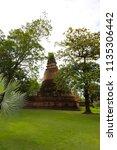 wat yai chai mongkhol in... | Shutterstock . vector #1135306442