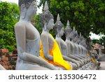 wat yai chai mongkhol in... | Shutterstock . vector #1135306472