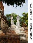 wat yai chai mongkhol in... | Shutterstock . vector #1135306496