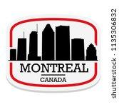 montreal canada label stamp... | Shutterstock .eps vector #1135306832