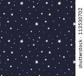 seamless pattern with night sky ... | Shutterstock .eps vector #113530702