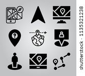 simple 9 icon set of location... | Shutterstock .eps vector #1135321238