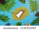cosmetic bottle containers on... | Shutterstock . vector #1135322555