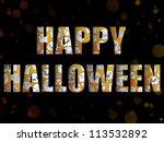 vector   halloween letters with ... | Shutterstock .eps vector #113532892