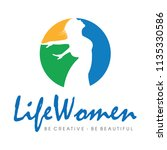 life colorful woman wellness...   Shutterstock .eps vector #1135330586