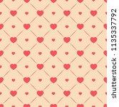 heart seamless pattern. fashion ... | Shutterstock .eps vector #1135337792
