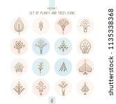 vector set of logo nature... | Shutterstock .eps vector #1135338368