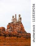 wat yai chai mongkhol in... | Shutterstock . vector #1135339256
