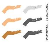 human hand icon set. human hand ... | Shutterstock .eps vector #1135340282