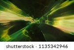 3d rendering of space flight to ... | Shutterstock . vector #1135342946