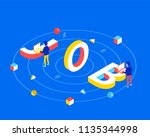 job design concept. job 3d word ... | Shutterstock .eps vector #1135344998