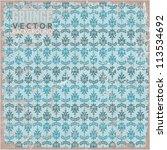 eps10 vintage scratched floral...   Shutterstock .eps vector #113534692
