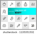 beauty icons. set of line icons.... | Shutterstock .eps vector #1135351532