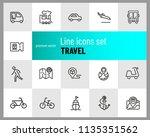 travel icons. set of  line... | Shutterstock .eps vector #1135351562